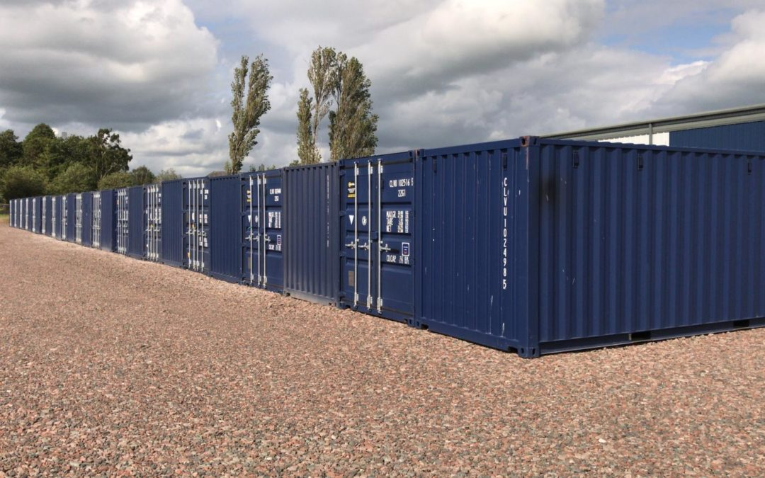 Containers Positioned