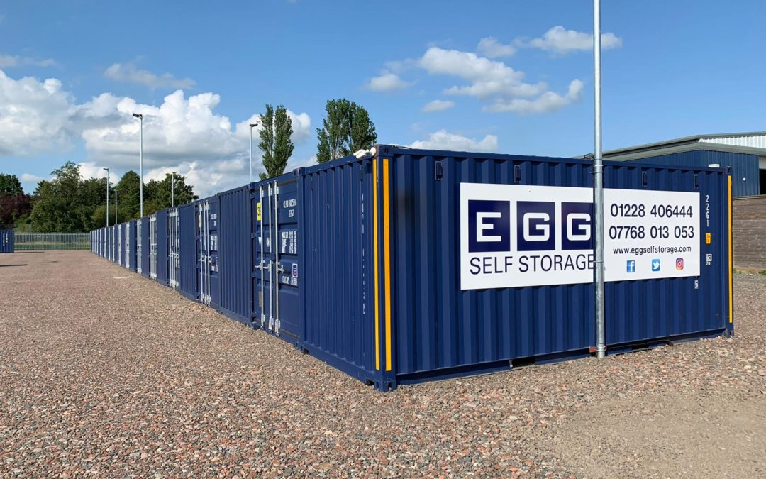 egg self storage units blue containers drive up access